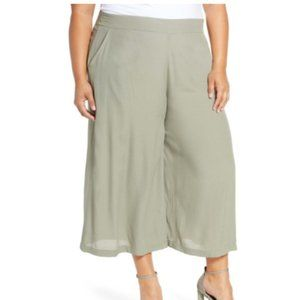 Leith Green Easy Cropped Pants (Plus Size)